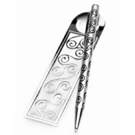 Pen & Bookmark Celtic Triskele Design (2)